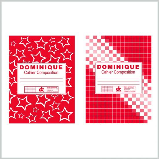 Red composition book 9.75x7.5 inch