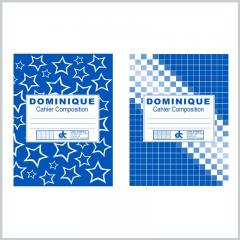 Colored composition notebook blue and white