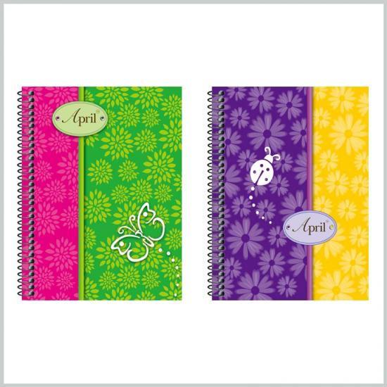Hardcover notebook ruled spiral notebooks