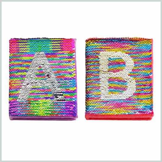 High quality sequin notebook for school